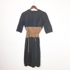 Vintage Wool Colorblock Dress